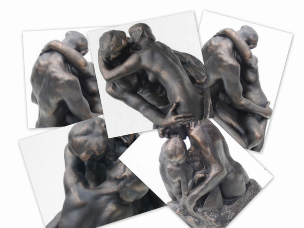 Auguste Rodin - De Kus. 27 cm.