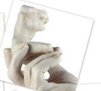 Auguste Rodin - Hand met Torso. (in gebroken wit)